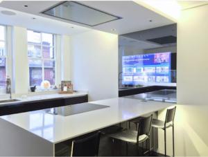 semi transparent mirror in contemporary kitchen JNS Glass & Coatings Colorado
